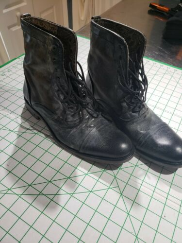 John varvatos boots  paisley leather interior 11.5