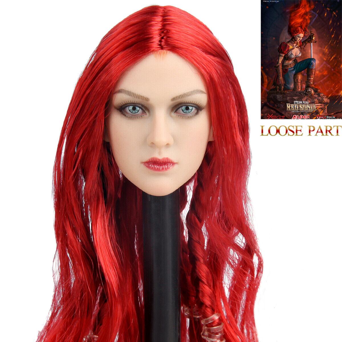 Tbleague PL2019-140 1 6 escala Vapor Punk rojo Sonja 12  Acción Figura Escultura de cabeza