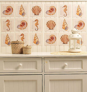 Exceptionnel Image Is Loading WALLIES SEASHELLS Wall Stickers 24 Decals Bathroom Decor