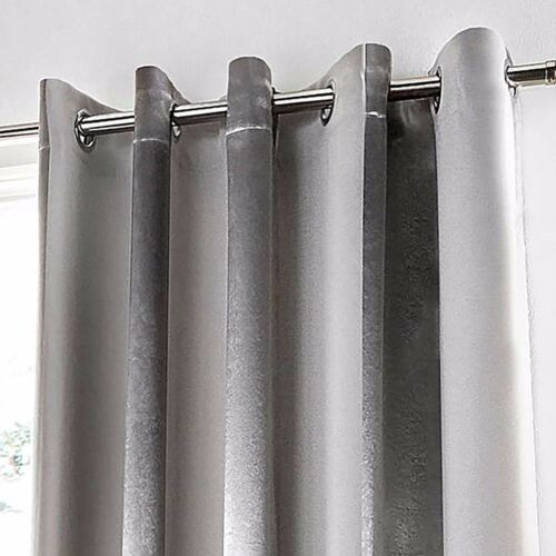 Pair Petra Ring Top Dim Out Curtains Range Available In Silver Or Gold