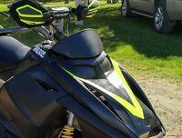 Ski-doo Rev Black Headlight Covers (now In Gloss Black)