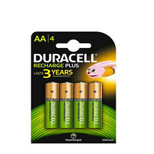 4 PILES ACCU DURACELL RECHARGEABLE AAA LR03 1.2V 1300mAh Ni-Mh BATTERY BATTERIE