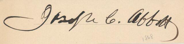 Joseph C. Abbott - Signature of the Union Army General & Senator from NC