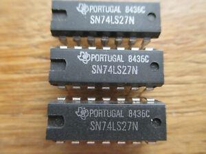 3-circuits-integres-SN74LS27N-DIP14-de-Texas-Instruments