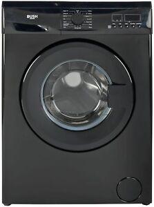Bush WMDF714B Free Standing 7KG 1400 Spin Washing Machine A++ Black.