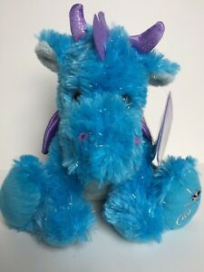 Details About Russ Sparkly Shining Stars Blue Dragon Plush Stuffed Animal Retired Nwt