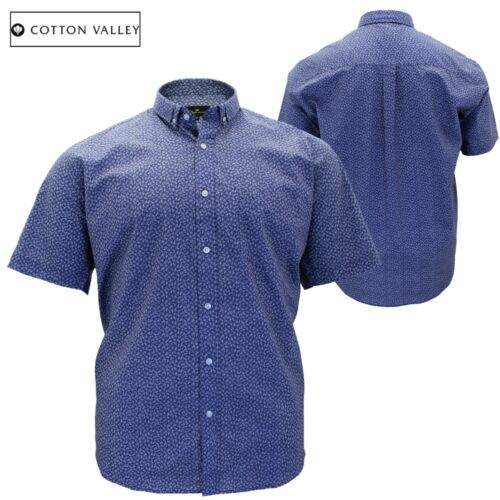 Homme grande taille coton valley paisley manches courtes casual formelle shirt 3XL 4XL 5XL