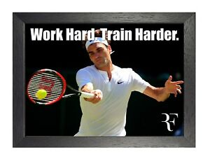 Roger 4 Tennis Motivational Inspitational Poster Sport Quote Photo Play Game