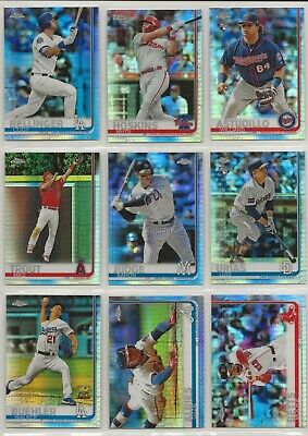 2019 Topps Chrome Baseball Prism Refractor U Pick Your Cards ~ Buy 5 Get 2 FREE