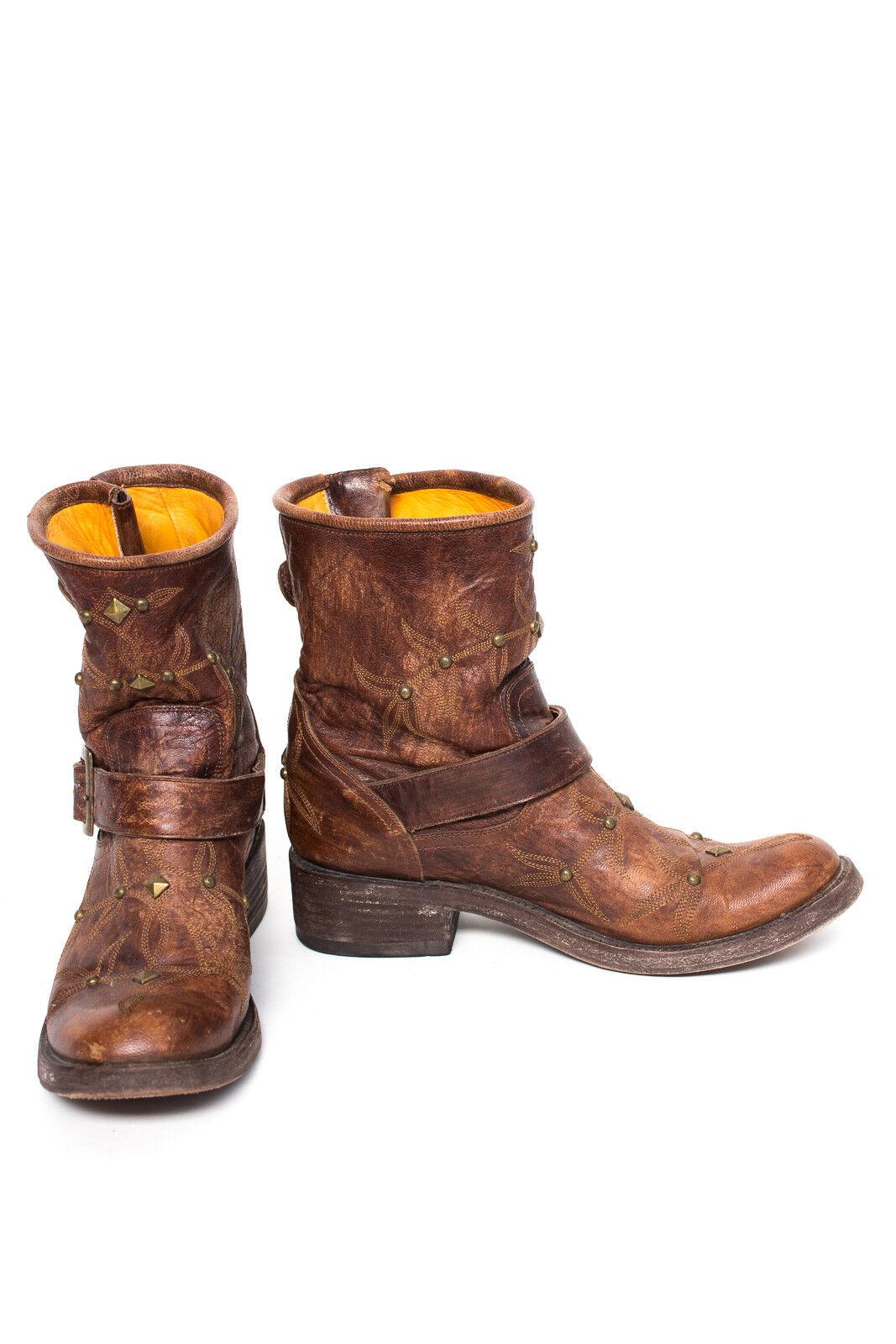 Mexicana señora zapatos stefeletten talla cuero marrón