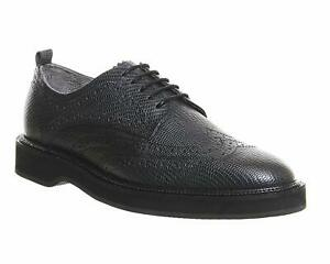 H-By-Hudson-Thrax-Brogue-Lace-Up-Textured-Leather-Flat-Pointed-Office-Shoes-5-38
