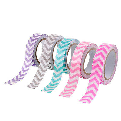 Stripe Cotton Rolls Tape 15mm Adhesive Craft Gift Glue Tape Paper Stickers