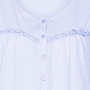 Nightdress Slenderella 100% Cotton Womens Lace   Ribbon Trim Sleeveless  Nightie 4b9d70cb9