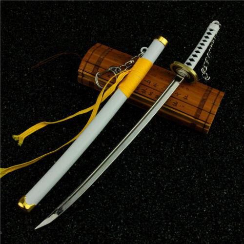 One Piece Roronoa Zoro Santoryu Blade Sword Replica Prop Alloy Key Ring Chain