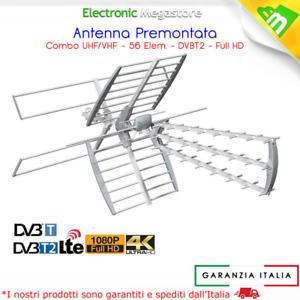 ANTENNA TV UHF e VHF DVB-T FULL HD READY 56 ELEMENTI GBC HD