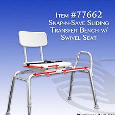 New Eagle Healthcare 77662 Swivel Seat Sliding Bath Transfer Bench