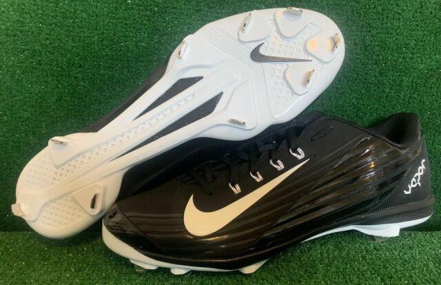 7af8c36a5 Nike Lunar Vapor Pro Metal Baseball Cleats 683895-010 Black White Men s Sz  14