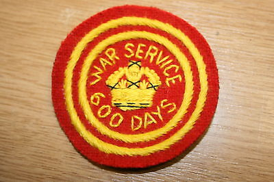 WW1 WWI BOY SCOUT WAR SERVICE PATCH BADGE 1918  RED