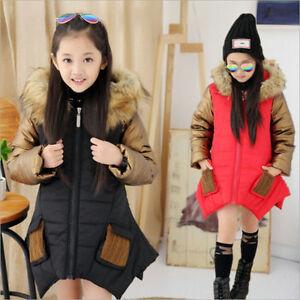 faaaf8379824 NEW parkas girl clothing kids winter outerwear coats princess girls ...