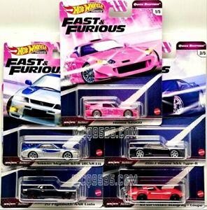 Hot-Wheels-2020-Fast-amp-Furious-Rapido-Shifters-Conjunto-de-5-coche-caso-J-pre-order
