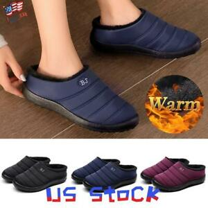 Women-039-s-Home-Fluffy-Slipper-Casual-Slip-On-Shoes-Fur-Warm-Indoor-Winter-Snow-US