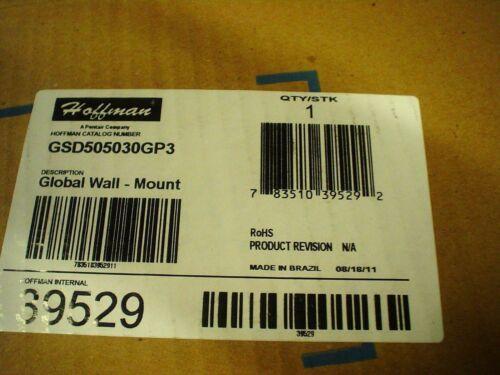 "Hoffman enclosure GSD505030GP3  20 x 20 x 12/"" nema12 w//sub panel-60 day warranty"