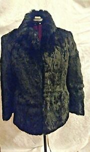 Rabbit Sz Winter Black 8 Natural M Jacket Evans Hip Fur 10 Længde Women's dxanaCY