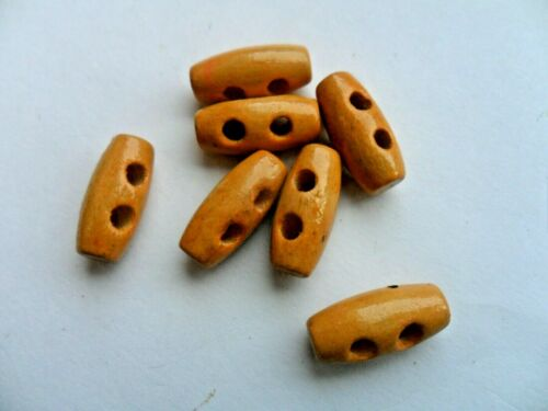 Mini  Natural Wooden Toggle Buttons 15mm with Two holes  x 20