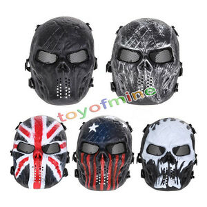 Airsoft-Paintball-Tactical-Full-Face-Protection-Skull-Mask-Skeleton-Army-Outdoor