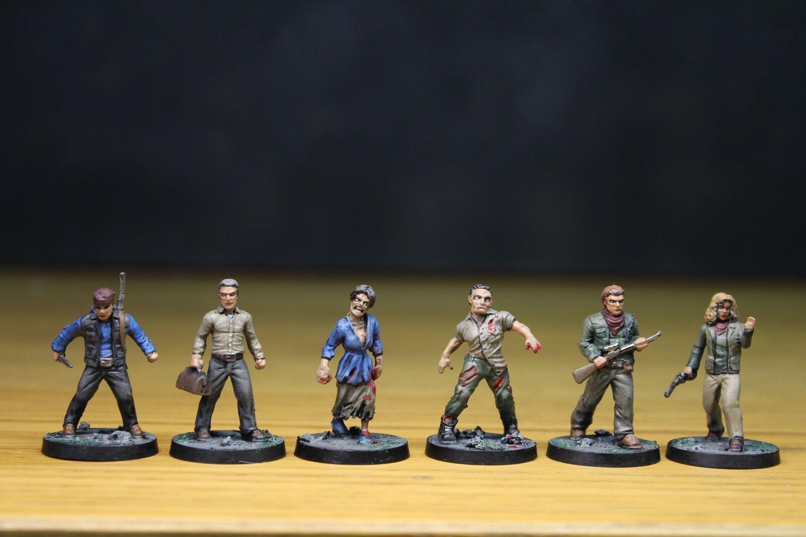 Walking Dead All out War Jeu milles derrière nous Expansion bien peints miniatures