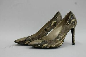 RUSSELL-amp-BROMLEY-Ladies-Brown-Snakeskin-Stiletto-Pointed-Court-Shoes-UK5-EU38