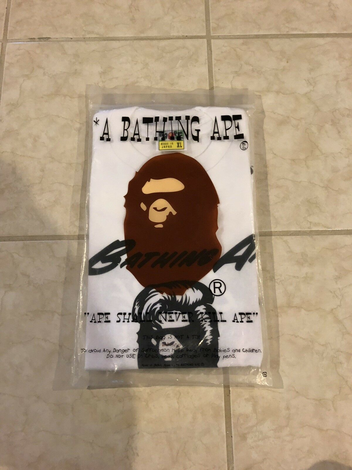 Rare A Bathing Ape Bape Cuts Exclusive Tee Brand New 100% Authentic Weiß