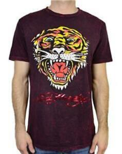 a38af4fb NEW EH TIGER ED HARDY MEN T-SHIRTS BURGUNDY MINERAL GRAPHIC TEE   eBay