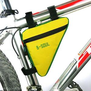 Triangle Cycling Bike Bicycle Front Tube Frame Pouch Bag Pack Saddle Pannier New