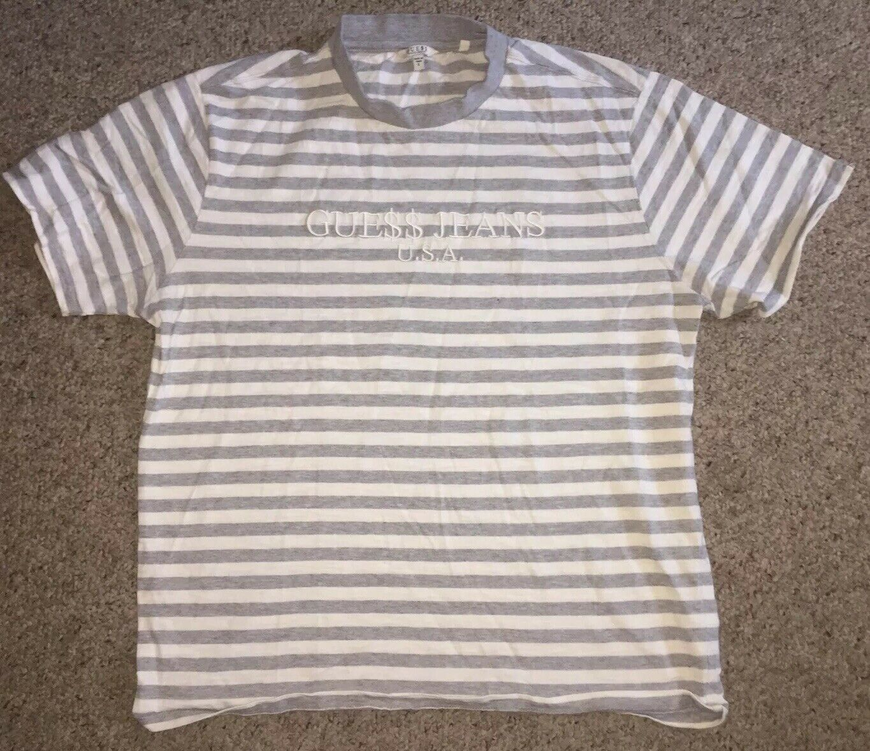 Guess David Reactive Asap Rocky Tshirt grau Weiß Mens Größe Large W  Free Shirt