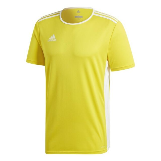 369c24333d5 adidas Entrada 18 Short Sleeve Jersey Kids Yellow White 140 for sale online  | eBay