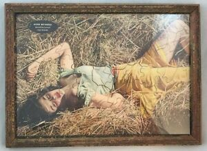 Rare-Framed-1950s-Jane-Russell-Esquire-Puzzle-The-Outlaw-Risque-Pinup