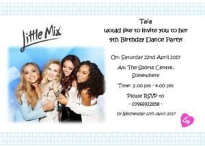 Image Is Loading Personalised Little Mix Inspired Party Invites Various Designs