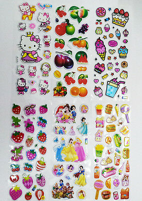 3D puffy bubble stickers scrapbook kitty cat princess food gift collection