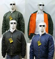 MENS MA1 MILITARY ARMY PILOT SECURITY DOORMAN BOMBER MENS WORKWEAR JACKET BIKER