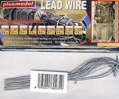 Plus Model 0,6mm Kabel Leitung Anschlusskabel für Modell-Bausatz 1:32//48//72//87