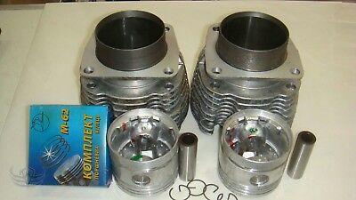2 Zylinder mit Kolben Ringen Bolzen Dnepr MT 650 ccm cylinders pistons set