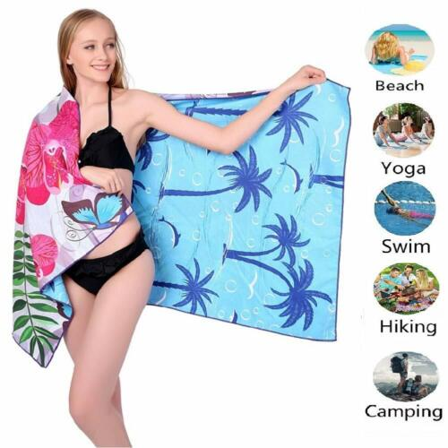 ponyprincess Microfiber Sand Free Beach Towel Blanket-Quick Fast Dry Super Absor