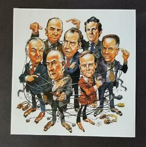 Jack-Davis-034-Watergate-Breaks-Wide-Open-034-Mounted-off-set-Color-Lithograph-1998