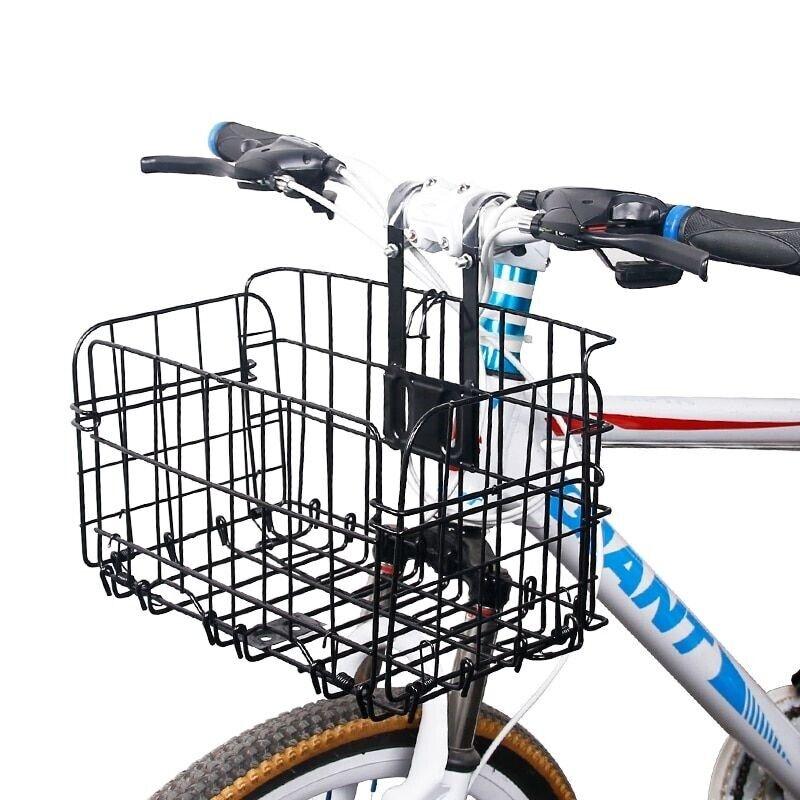 Cesta de Bicicleta Bicicleta Alforja Manillar Bolsa resistente Cochecasa Cocheryings Iron