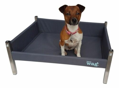 Henry Wag Elevated Dog Bed Replacement Cover Durable Grey All Sizes