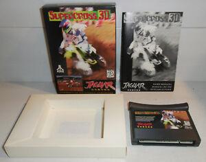 Atari-Jaguar-Game-SUPERCROSS-3D-Retro-64-Bit-COMPLETE-Vintage-CIB-TESTED-Works