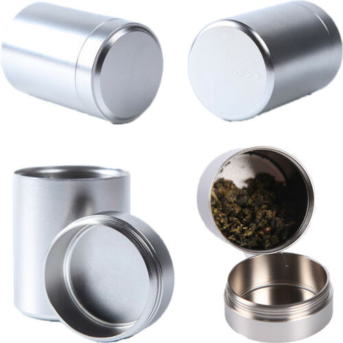 Smell Proof Waterproof Sealed Container Tea Box Mini Metal Cans Herb Stash Jar