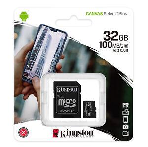 32 Go Kingston Plus Micro SD SDHC Carte Mémoire Classe 10 avec SD Adaptateur Carte