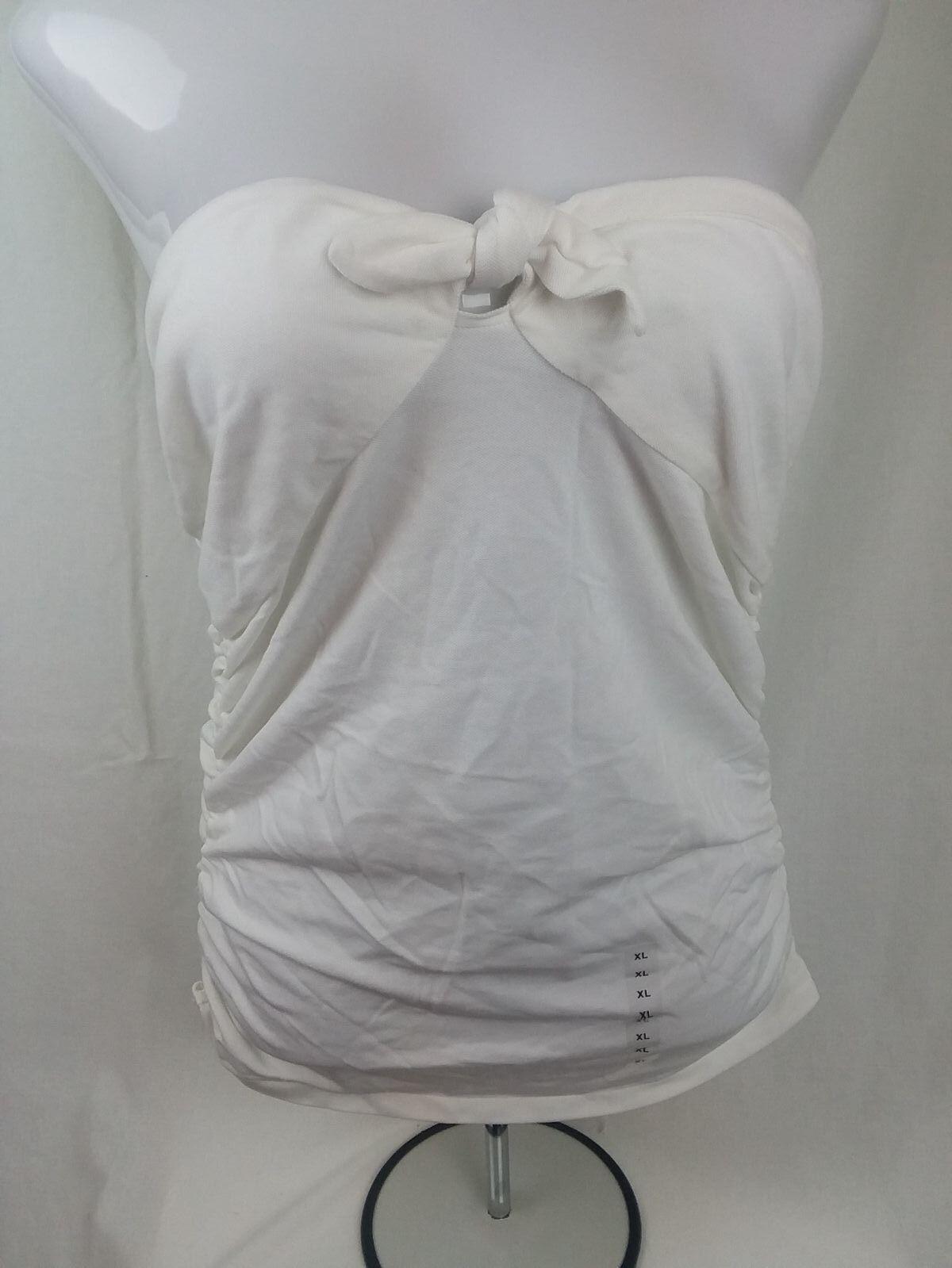 NWT RALPH LAUREN damen Weiß SLEEVELESS TIE TUBE TOP SEXY SLIMMING STRAPLESS XL